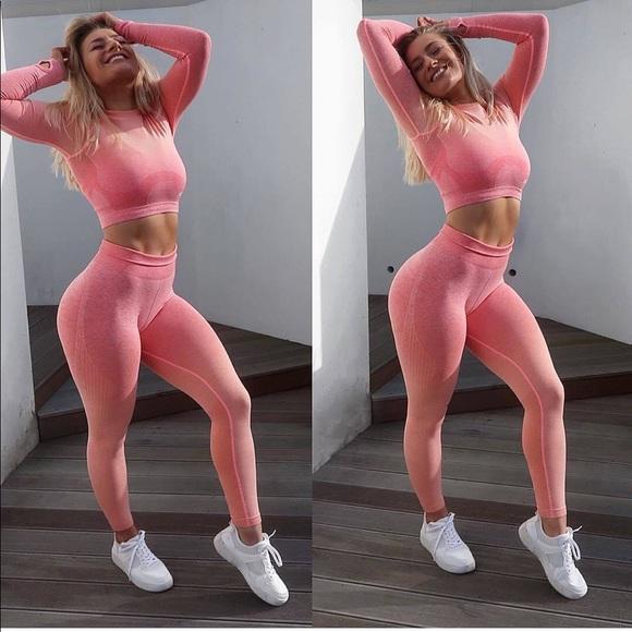 7f70490710be27 Gymshark Pants   Brand New Peach Ombre Seamless Leggings   Poshmark